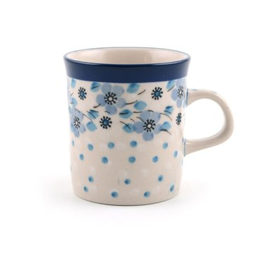 Small mug Blue White Love