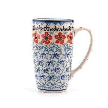 Coffee to go Mug Red Violets