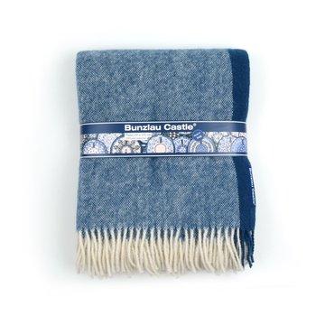 Wollen deken Blauw