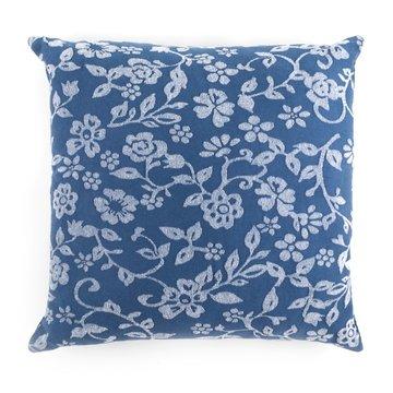 Kussen Bloemen Blauw